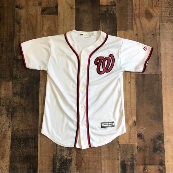 promo code d8b1e 272a1 Washington Nationals Youth MLB Baseball Jersey